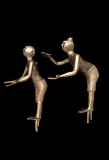 Paire de figurines masculines
