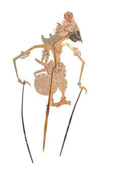 """Figure de wayang kulit """"théâtre d'ombres&quot"""