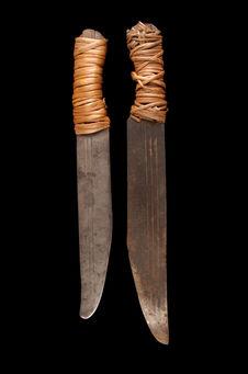 Paire de machettes entrehoquées