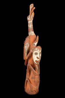 Sculpture de faîtage de maison cérémonielle