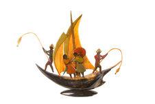 Représentation d'un bateau de pêcheurs