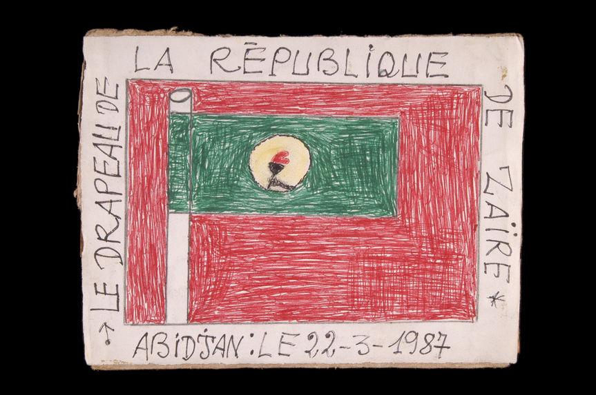 Dessin : Le drapeau de la République du Zaïre