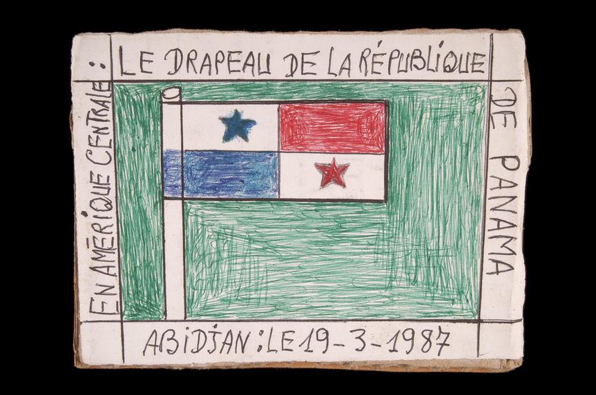 Dessin : En Amérique centrale : le drapeau de la République de Panama