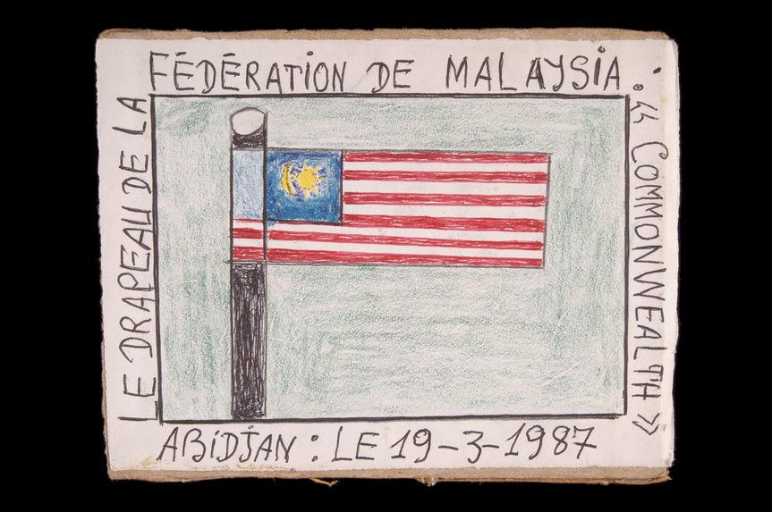 """Dessin : Le drapeau de la Fédération de Malaysia : """"Commonwealth&quot"""