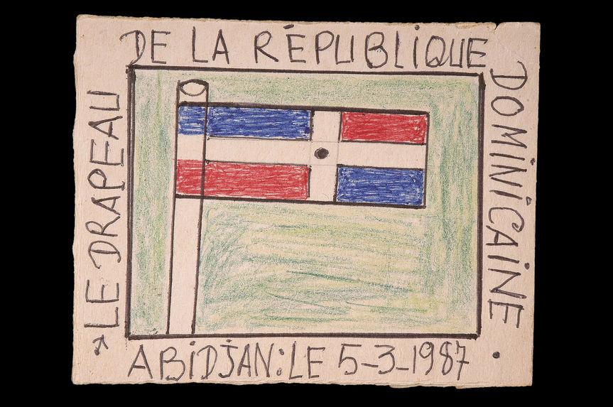 Dessin : Le drapeau de la République Dominicaine
