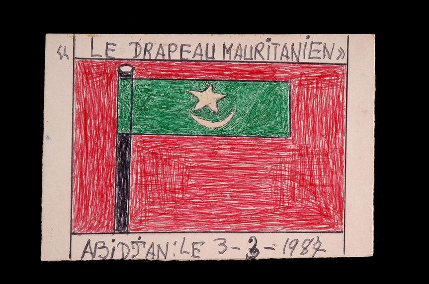 Dessin : Le drapeau mauritanien