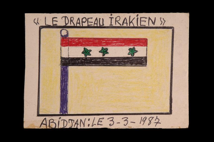 Dessin : Le drapeau irakien