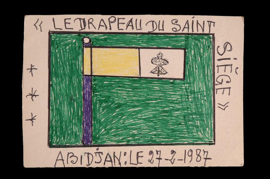 Dessin : Le drapeau du St-Siège