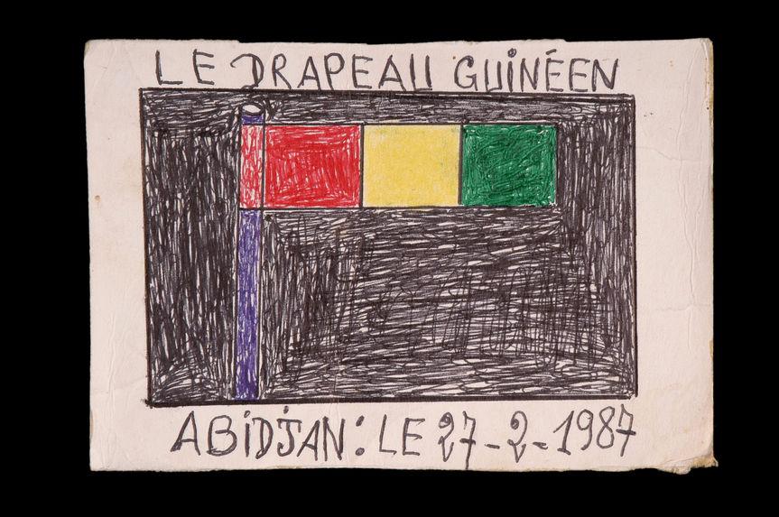 Dessin : Le drapeau guinéen