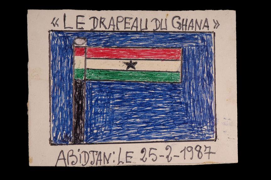 Dessin : Le drapeau du Ghana
