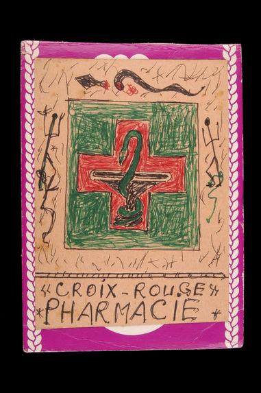 Dessin : Croix-Rouge / Pharmacie