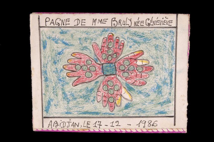 Dessin : Pagne de Mme Bruly née Geneviève