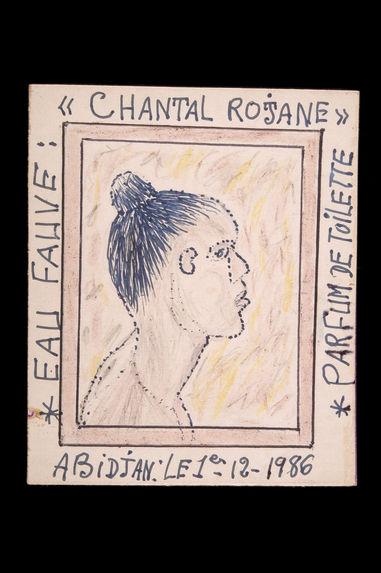 """Dessin : Eau fauve : """"Chantal Roja ne"""" parfum de toilette&quot"""