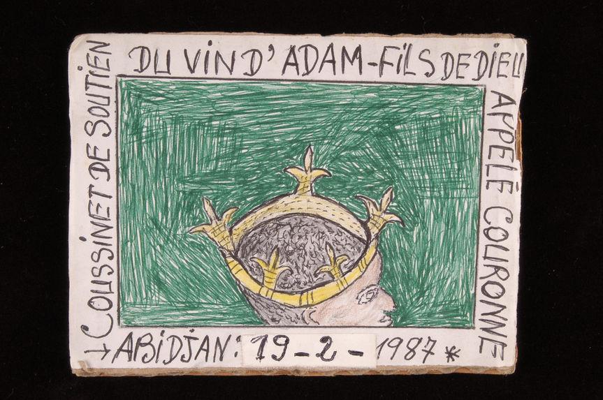 Dessin : Coussinet de soutien du vin d'Adam - fils de Dieu appelé couronne
