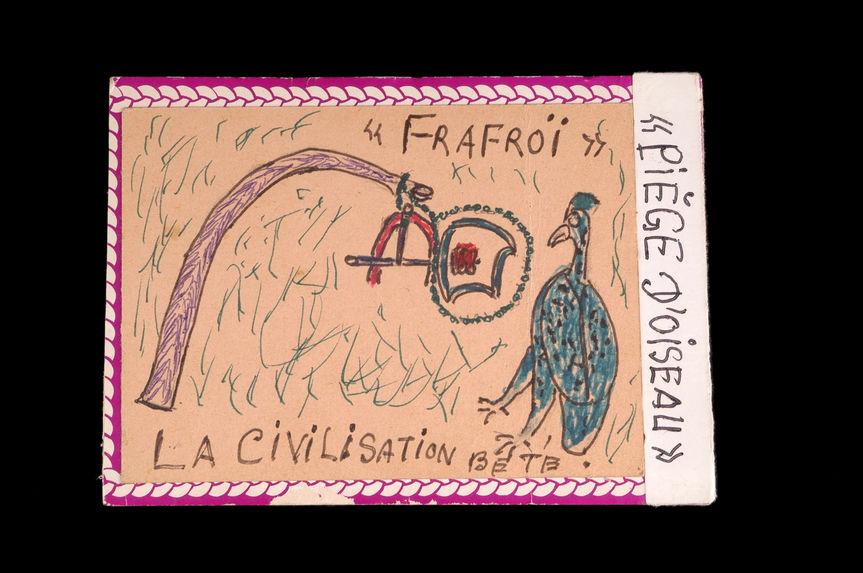 Dessin : La civilisation Bété / frafroi / piège oiseau