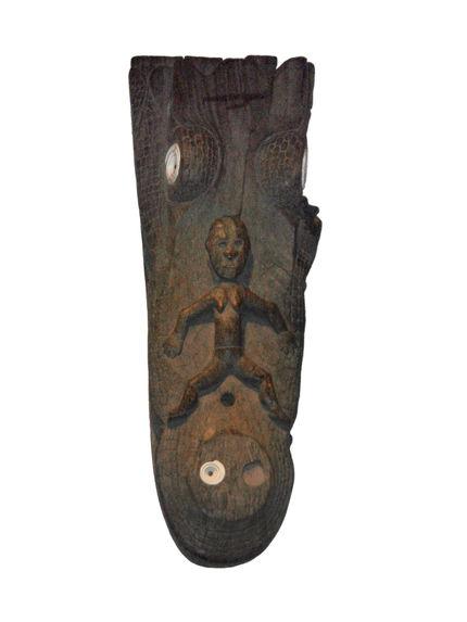 Sculpture zoomorphe (caïman)