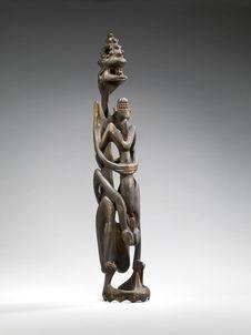 Sculpture anthropomorphe (couple)