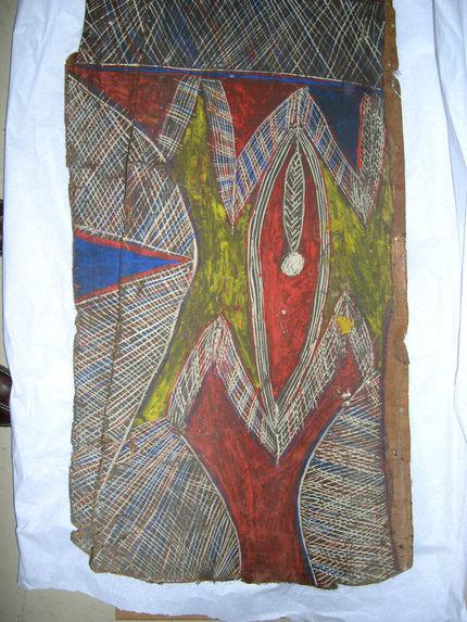 Peinture sur spathe