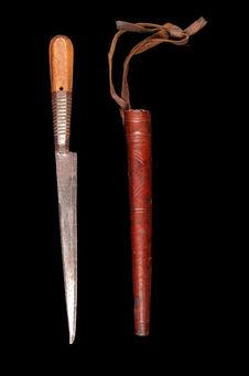 Couteau de chasse et sa gaine
