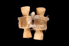 Témoins de relais : rondins décorés