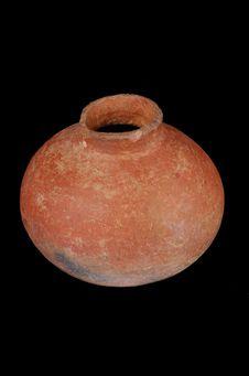 Vase globulo-lenticulaire à col