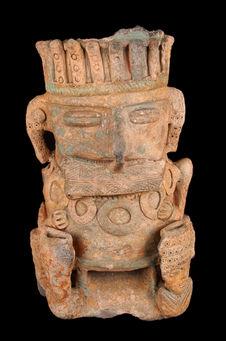 Statuette anthropomorphe creuse (fragmentaire)