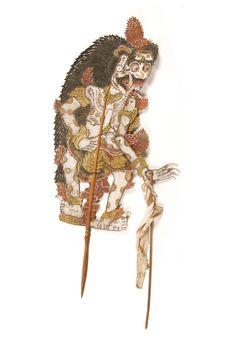 Figure de théatre d'ombres : Rangda