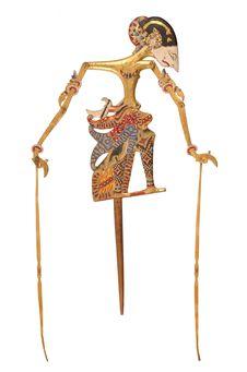 """Marionnette de """"wayang kelitik"""" : Damar Wulan"""