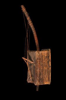 Harpe à chevalet-cordier