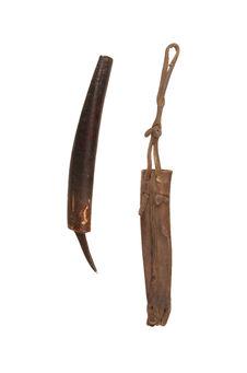 Couteau pour graver le bois et son étui