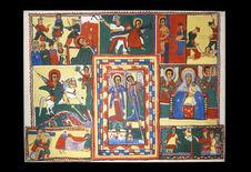 Peinture - Décor d'une église abyssine