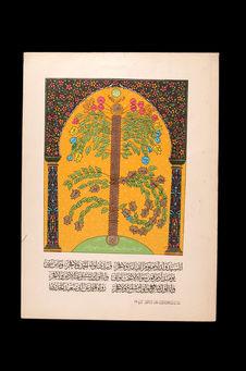 Image populaire, génalogie des ancêtres des Arabes
