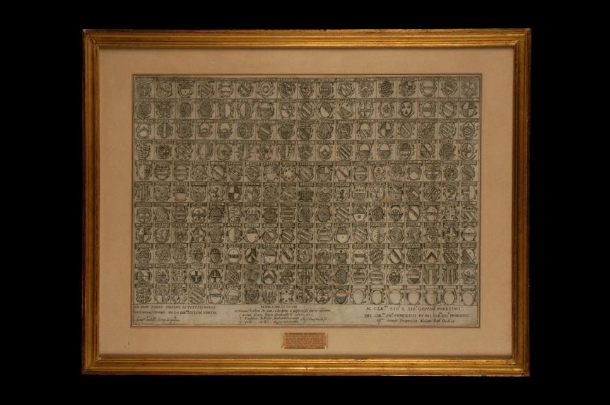 Panneau armorié d'époque Louis XIV