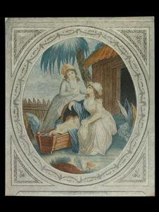 Paul et Virginie au berceau devant leurs mères