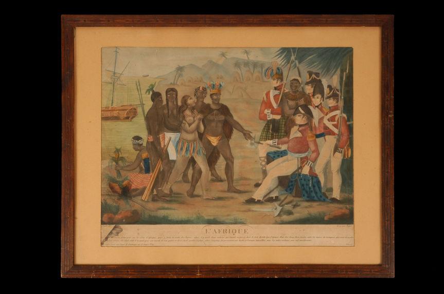 L'Afrique Les Anglais étaient débarqués sur les côtes d'Affrique, pour y faire la trette des Nègres