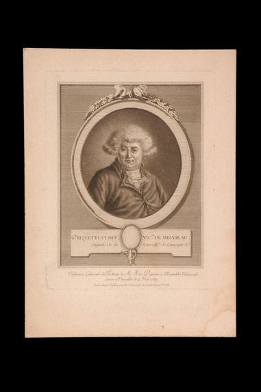 G.re Riquetti ci dev.t vic.te de Mirabeau, Député de la Senéch.ée de Limoges &a