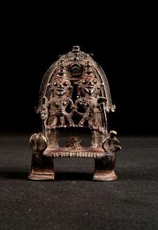 Autel miniature de Shiva et Parvati
