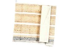 Bande de coton avec dessins préparatoires à la cire