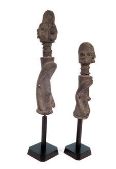 Paire de statuettes anthropomorphes