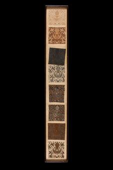 Dessins sous verre illustrant les étapes de fabrication du batik