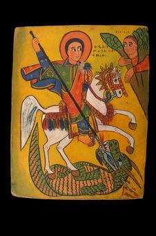 Peinture : Saint Georges (icône)