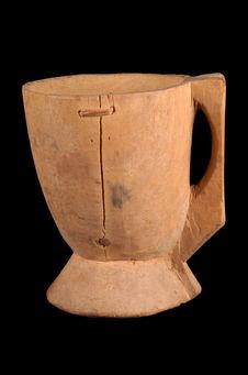 Vase en bois pour la traite