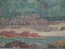 Diorama : Rivière et rochers I