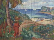 Femme aux noix de coco