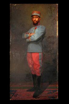 Portrait du général Baratier en colonel de chasseur à cheval