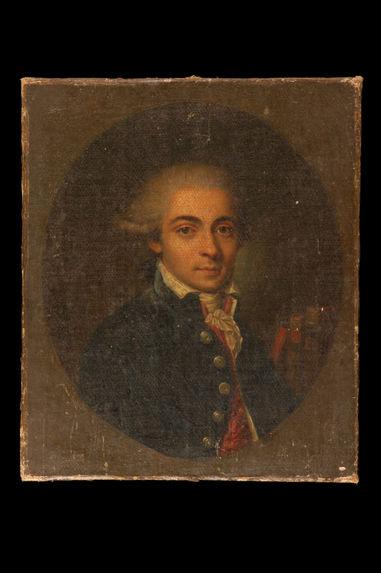 Portrait de Antoine, chevalier de Bertin, poète créole de l'Ile de Bourbon (1752-1790).