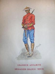 Chasseur annamite - brigadier grande tenue