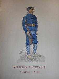Milicien tonkinois en grande tenue