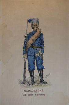 Madagascar - Milicien sergent