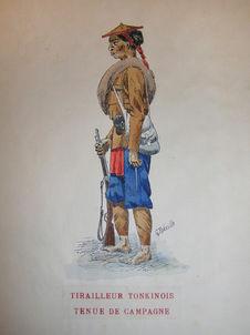 Tirailleur tonkinois en tenue de campagne